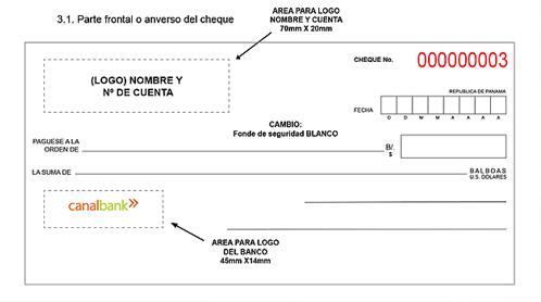 Estandarización de los formatos de los cheques Personales y Comerciales en la República de Panamá